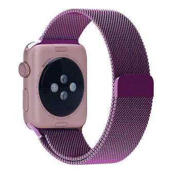 niceEshop 38mm Milanese Magnetic Loop Stainless Watch Band Strap Leather Loop For Apple Watch (Purple) - intl Price Philippines