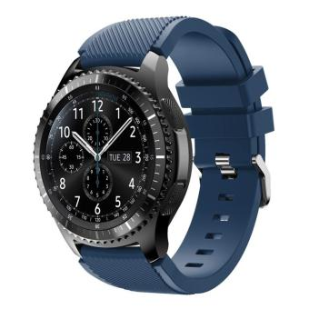 Trendy Soft Sports Silicone Watch Band for Samsung Gear S3 Frontier / S3 Classic - Deep Blue - intl Price Philippines