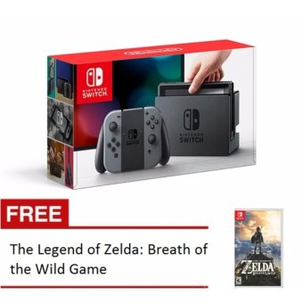 Harga Nintendo Switch with Gray Joy‑Con with Free The Legend of Zelda: Breath of the Wild Game