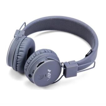 NIA X2 Superb Sound Collapsible 108dB Bluetooth Headset with FM Radio and TF/AUX Slot (Grey) Price Philippines