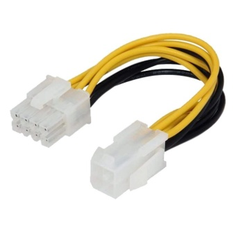 Harga Computer Power Cable Connector (Black/Yellow)