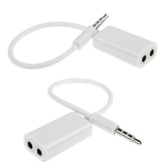 3.5mm Audio Splitter Cable (White) Price Philippines