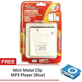 Harga MSM HK Battery for Cherry Mobile CM-8K OMEGA HD WITH FREE Mini metal Clip MP3 blue