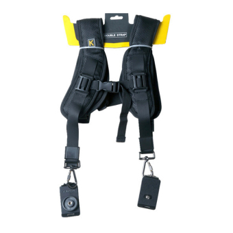 Harga (IMPORT) Black Professional QUICK STRAP Double Shoulder Belt Strap For Tow Video Cameras SLR DSLR
