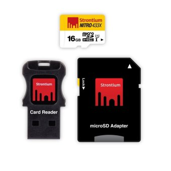 Harga Strontium Nitro 16GB 433x Micro SD Card with Adapter and Card Reader