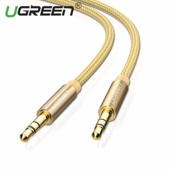 Harga UGREEN 3.5mm to 3.5 mm Jack Aux Cord Gold-Plated Metal Connector Audio Cable - 1.5m,Gold - intl