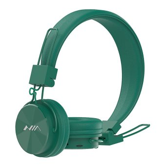 NIA X3 Wireless Bluetooth Over-the-Ear Stereo Headset with Microphone, FM Radio, Micro SD Player, AUX for iPhone, Samsung Galaxy, Android (Green) Price Philippines