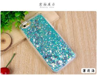 Harga Newest Love Heart Stars Glitter Stars Dynamic Liquid Quicksand Soft TPU Phone Back Cover Case For iPhone 7Plus - intl