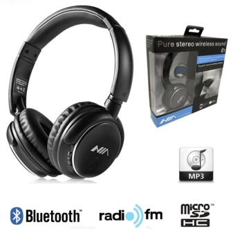 Nia Q1 Bluetooth Headsets with Micro SD and AUX Slot/FM Radio/Call Function (Black) Price Philippines