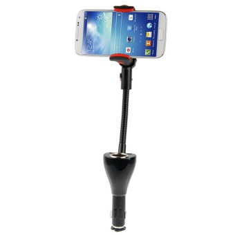V SHOW Universal Car Mount + Dual Usb Car Charging For Samsung Galaxy S Iv / S Iii / Ace 3 / Note Iii / Note Ii, Dc 5V / 2A, Support 360 Degree Rotation - intl Price Philippines