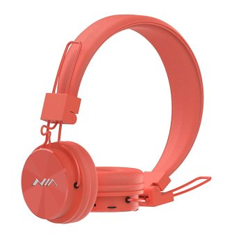 NIA X3 Wireless Bluetooth Over-the-Ear Stereo Headset with Microphone, FM Radio, Micro SD Player, AUX for iPhone, Samsung Galaxy, Android (Orange) Price Philippines