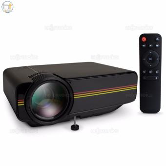 Harga Portable YG400 Mini LED Projector Multimedia Home Theater (Black)