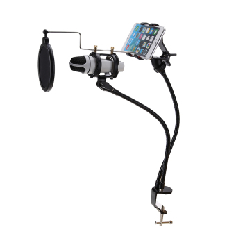 Microphone Stand Mount Recording the MV for Mobile Phone - intl Price Philippines