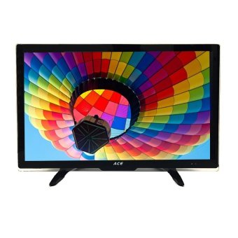 "Ace 24"" Super Slim Full HD LED TV Black LED-802 with Tempered Glass"""