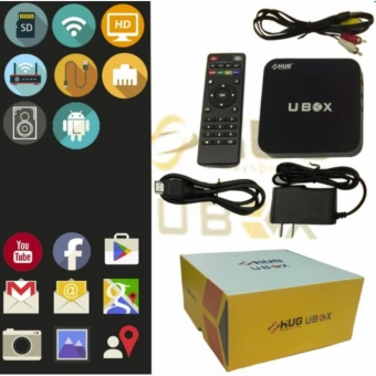 Harga HUG Android Media Player 4K HD TV Box WiFi LAN Quad Core Adroid Lollipop Smart Streaming (UBOX)