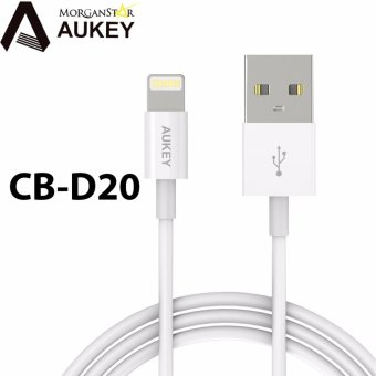 Harga Aukey CB-D20 3.3ft. MFI LIghtning 8 pin Sync and Charging Cable (NonBraided)