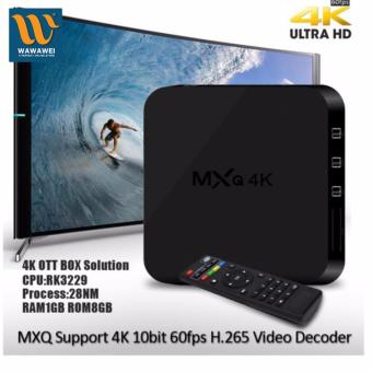 Harga MXQ-4k Android 5.1 Kitkat Ultra HD 8GB Quad Core Android Internet TV Box (Black) #31915