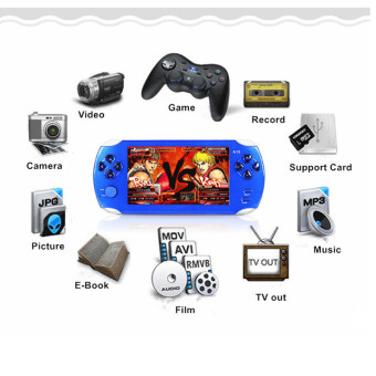 9000+ Free Games 5 Inch 8G PSP Game Player Handheld GBA Consoles Big Screen MP3/MP4/MP5/FM/Camera (Blue) - intl Price Philippines