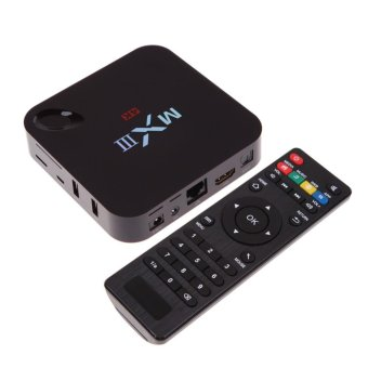 Harga MXIII XBMC Kodi QUAD CORE ANDROID SMART 2G/8G TV BOX 4.4 Android 4K UL CSA - intl