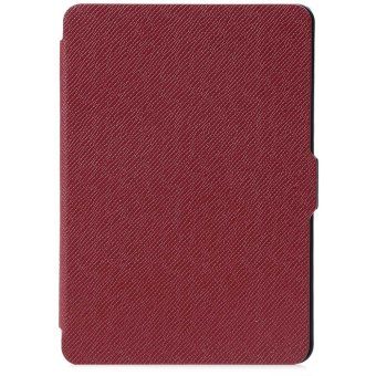Harga Leather Smart Lightweight Durable Cover for Amazon Kindle Paperwhite 1 / 2 / 3 (Red)
