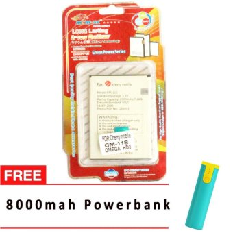 MSM HK Battery for Cherry Mobile CM-11S OMEGA HD3 WITH FREE 8,000 MAH POWERBANK Price Philippines