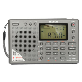 Harga Pro TECSUN PL-380 DSP PLL FM MW SW LW Digital Stereo Radio World Band Receiver Gray - intl