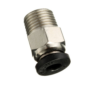 Pneumatic Connector PC4-01 For 1.75mm 3mm PTFE Tube Quick Coupler Feed inlet For J-head Fittings Reprap Hotend Fits 3D Printer - Intl