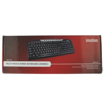Imation KBD-702 Multi-Media Wired Keyboard (Black) - picture 2