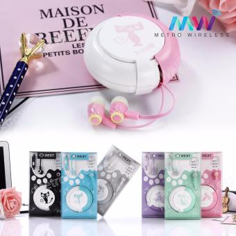 In-Ear Headset Earphone With Storage Box MC-95 (Pink) - 2