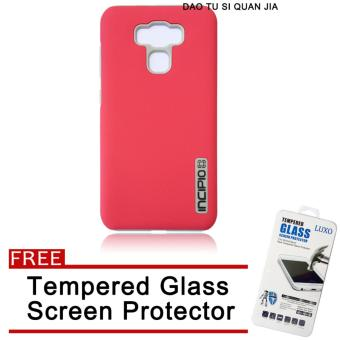 Incipio Silicone / TPU Back Case for Asus Zenfone 3 Max ZC553KL(Hotpink) with Free Tempered Glass Screen Protector