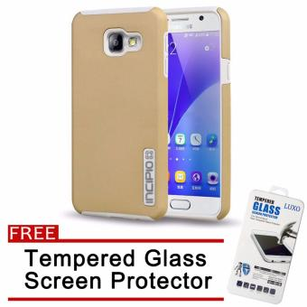 Incipio TPU Back Case Cover for Samsung Galaxy A9 Pro (Gold) withFree Tempered Glass Screen Protector