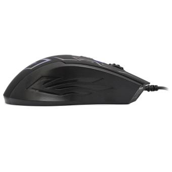 INT M-666 USB Wired LED Backlit Optical Gaming Mouse - 5