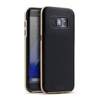 iPaky Slim TPU+PC Shockproof Hybrid Case for Samsung Galaxy S7 EdgeG9350 (Gold)