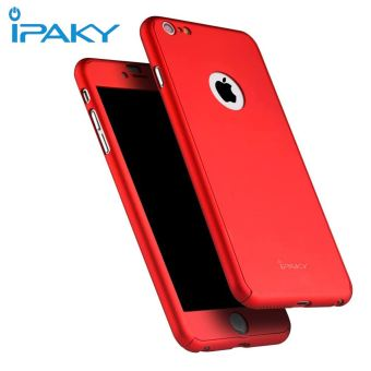 IPAKY Ultra-Thin 360 Degrees Full Body Protective Case For iPhone 7Plus (Red) - 2