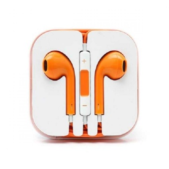 Iphone 5 Model Stereo Earphone/Headset(Orange)