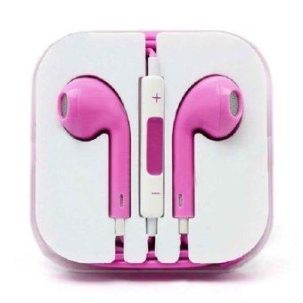 iPhone 5 Model Stereo Earphone/Headset (Pink) - 3