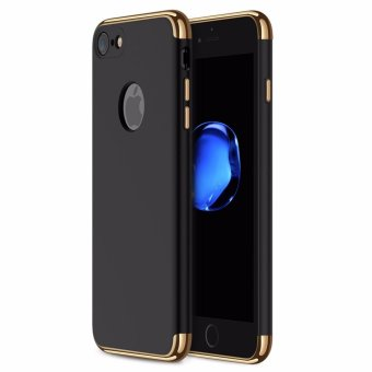iPhone 7 Case,GiMi Stylish Slim Hard Case with 3 Detachable Parts for Apple iPhone 7, CHROME GOLD and MATTE BLACK, [CLIP-ON] - intl