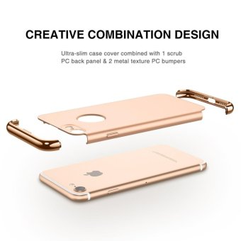 iPhone 7 Case,GiMi Stylish Slim Hard Case with 3 Detachable Parts for Apple iPhone 7, CHROME GOLD and MATTE BLACK, [CLIP-ON] - intl - 4