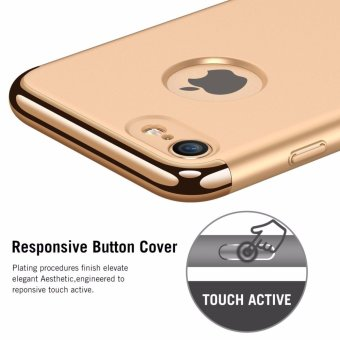 iPhone 7 Case,GiMi Stylish Slim Hard Case with 3 Detachable Parts for Apple iPhone 7, CHROME GOLD and MATTE BLACK, [CLIP-ON] - intl - 2