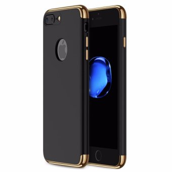 iPhone 7 Plus Case,GiMi Stylish Slim Hard Case with 3 DetachableParts for Apple iPhone 7, CHROME GOLD and MATTE BLACK, [CLIP-ON] -intl