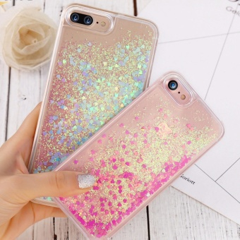 iPhone 7Plus Luxury Liquid Glitter Bling + Anti-Gravity Case Price Philippines