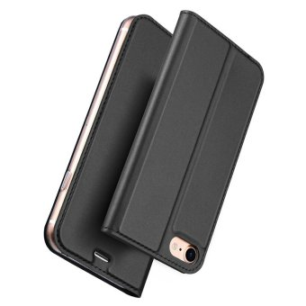 Iphone7P New Crashproof Flip Leather Magnet Phone Case for iPhone 7 Plus (Grey) - 2