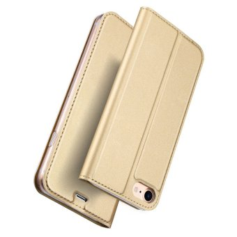 Iphone7P New Crashproof Flip Leather Magnet Phone Case for iPhone 7Plus (Gold) - 2