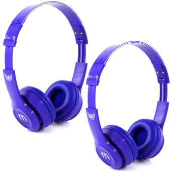 J-03 Adjustable Stereo Smartphone Headset (Blue) Set Of 2
