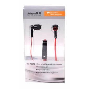 Jabees WE104M Stereo Eardphone Red - 3