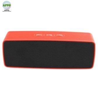 JC170 Wireless Bluetooth Speaker USB Flash FM Radio Stereo SuperBass MP3 Player(RED) - 2