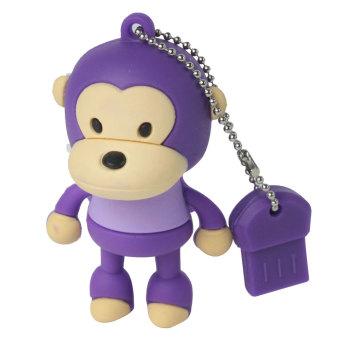 JIANGYUYAN Cute Big Mouth Monkey 4GB Plastic USB Flash Drive Purple (Intl)