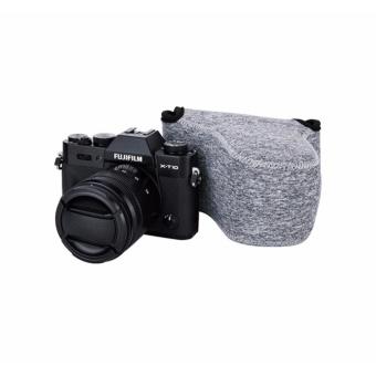 JJC Ultra Light Neoprene Mirrorless Camera Pouch Camera Case Bagfor Fujifilm X-T10 X-M1 X-A1 X-A2 X-A3 +16-50mm or 18-55mm Lens,Olympus E-M10II E-PL8 E-M5II+14-42mm II or 12-50mm Lens--Medium (upto 127 x 85 x 130mm) - intl - 5