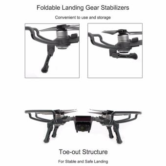 Joint Victory Propeller Guards Protectors with Foldable Landing Gear Leg Extenders 2 in 1 Combo for DJI Spark Drone - 3