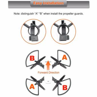 Joint Victory Propeller Guards Protectors with Foldable Landing Gear Leg Extenders 2 in 1 Combo for DJI Spark Drone - 5